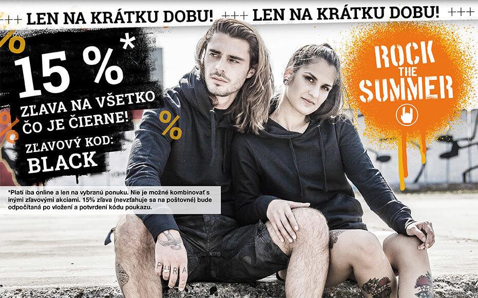 15% zľava na všetko čo je čierne!