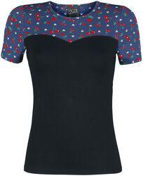 Basic tričko Cat Paws & Cherries Girl