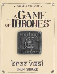 A Song of Ice and Fire A Game of Thrones - Braavosi Iron Square