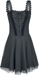 Krátké šaty Gothicana s krajkou a šněrováním