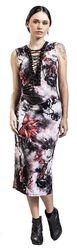 Kvetované šaty so zaväzovaním Dark Passions