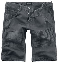 Motorkárske šortky so zničenými efektami