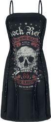 Krátké šaty se šněrováním Rock Rebel