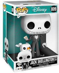 Vinylová figúrka č. 809 Jack Skellington With Zero (Jumbo Pop!)