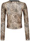 Leopardí sieťovinový top Native New Yorker