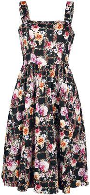 Farebné swingové šaty Garden