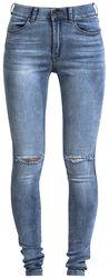 Džínsy Lexy s dierami na kolenách
