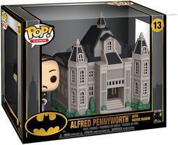 Vinylová figúrka č. 13 80th - Alfred Pennyworth With Wayne Manor  (Pop! Town)
