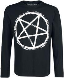Long-Sleeve Shirt with Pentagram Print