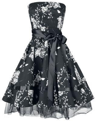 Čiernobiele kvetované šaty