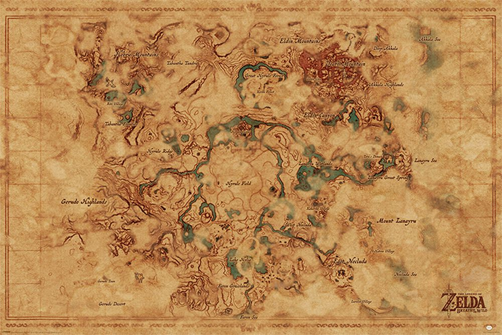 Mapa sveta Breath of the Wild - Hyrule