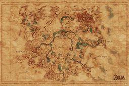 Mapa sveta Breath of the Wild - Hyrule