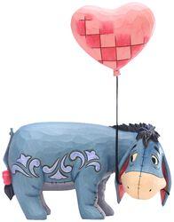 Figúrka Eeyore s balónom v tvare srdca
