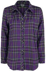 Fialová károvaná košeľa
