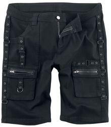 Čierne šortky s remienkami
