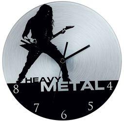 Sklenené nástenné hodiny Heavy Metal