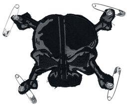 Nášivka so sivo čiernou lebkou