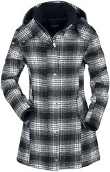 Black/white Checked Winter Jacket