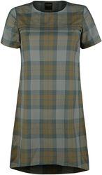 Jednoduché tartanové šaty