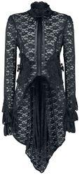 Čierny čipkovaný kabát Pirate