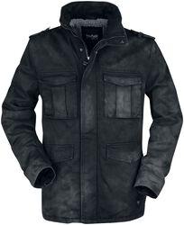 Zimná bunda s opraným a obnoseným efektom