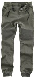 Voľné teplákové nohavice so vzhľadom džínsov