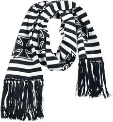 Striped Scarf With Iron Crosses
