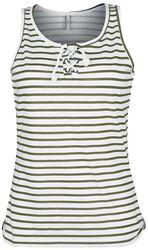 Prúžkované tričko AOP