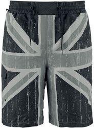 Šortky na plávanie s motívom britskej vlajky