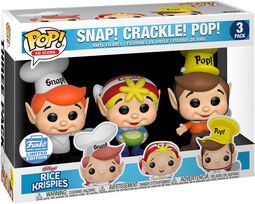 Kellogg's Belnie 3 ks figúrok Snap Crackle Pop - Rice Krispies (Funko Shop Europe)