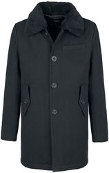 Kabát Manhattan s kožušinovým golierom