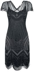 Beatrice Black Fringe Dress