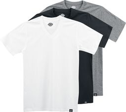 Balenie 3 ks tričiek s Véčkovým výstrihom v rôznych farbách