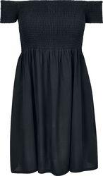 Dámske šaty s odhalenými pleciami a ''opáleným'' efektom