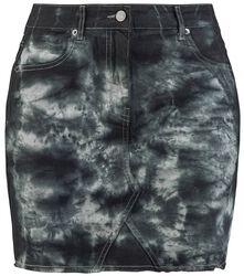 Denimová vintage sukňa s 5 vreckami a zničenými detailmi