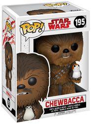 Vinylová figúrka s pohyblivou hlavou č. 195 Episode 8 - The Last Jedi - Chewbacca s Porgom