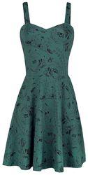 Krasokorčuliarske šaty so šnúrkami na chrbte a potlačou Ouija