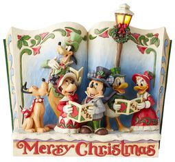 Soška s motívom knihy s vianočnými koledami