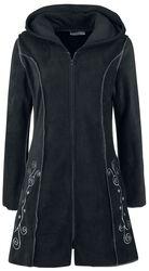 Flisový kabát s kapucňou a výšivkou