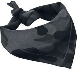 Šatka s tmavým kamufláž vzorom