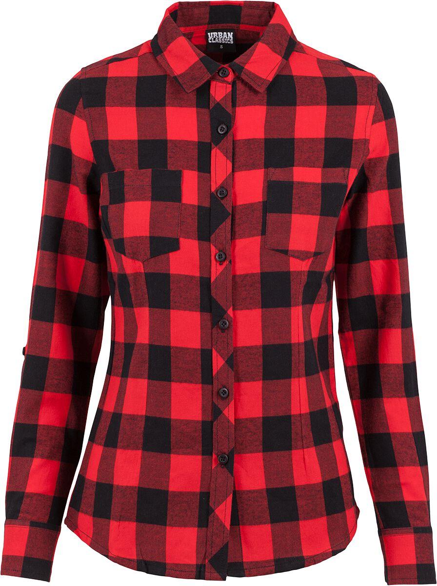 49f40c1765cd Ladies Turnup Checked Flannel Shirt