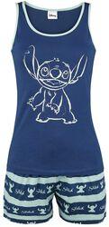 Pyžamo Stitch s prúžkami