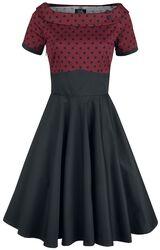 Šaty s bodkami Darlene Retro