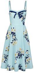 Vintage modré kvetované šaty