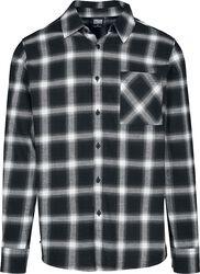 Kockovaná oversized košeľa