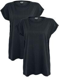 Balenie 2 ks dámskych tričiek s rozšíreným strihom cez plecia