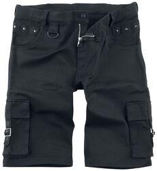 Čierne šortky s nitmi