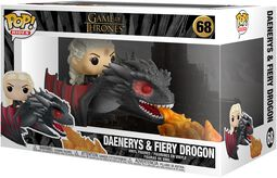 Vinylová figúrka č. 68 POP Rides Daenerys and Fiery Drogon