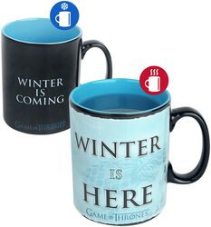 Hrnček Winter Is Here s potlačou, ktorá sa pod vplyvom tepla mení