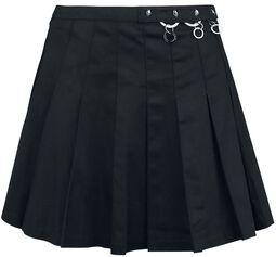 Skladaná široká sukňa